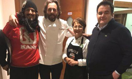 Fiorella Visconti a Cuochi d'Italia su Tv8 con Alessandro Borghese