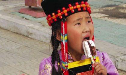 Macchine bergamasche per il gelato nel freddo glaciale della Mongolia