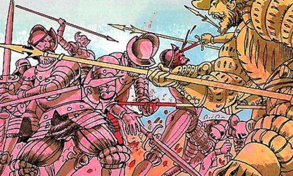 La battaglia dei cavalieri fantasma La leggenda di Osio si fa fumetto