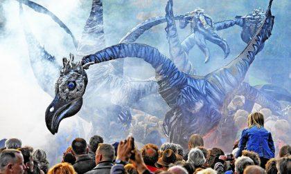 Un'invasione di animali preistorici domenica sera a Costa di Mezzate