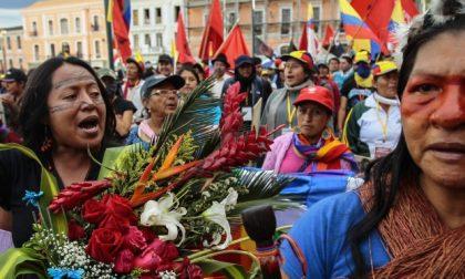 La lotta delle indigene ecuadoreñe
