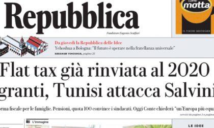 Le prime pagine dei giornali martedì 5 giugno 2018