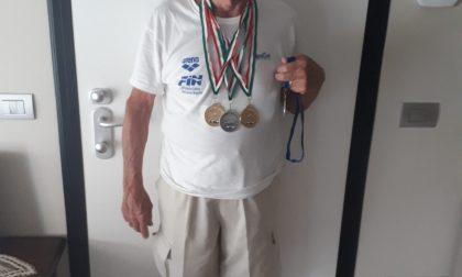 Attilio, un nuotatore da record Ottant'anni e più di 200 medaglie