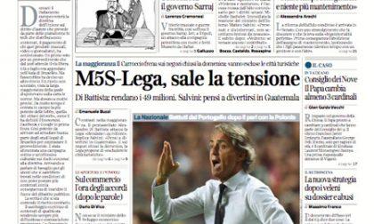 Le prime pagine dei giornali martedì 11 settembre 2018