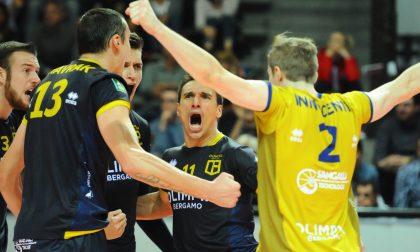 La prima a Bergamo dell'Olimpia è una bella conferma: vittoria 3-1