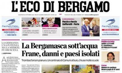 Le prime pagine dei giornali martedì 30 ottobre 2018