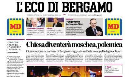 Le prime pagine dei giornali venerdì 26 ottobre 2018