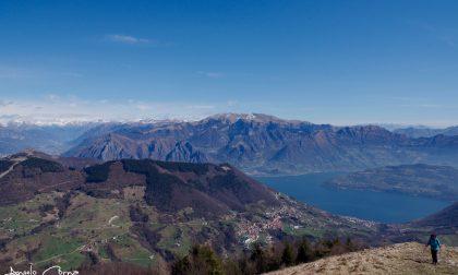 Il lago d'Iseo dal Monte Bronzone – Angelo Corna