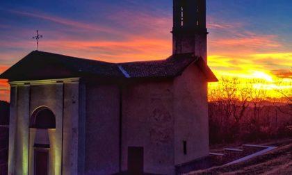 Tramonto ad Aviatico (chiesa di San Rocco) – Diego Carrara