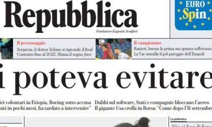 Le prime pagine dei giornali martedì 12 marzo 2019