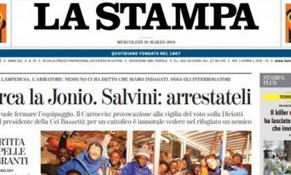 Le prime pagine dei giornali mercoledì 20 marzo 2019
