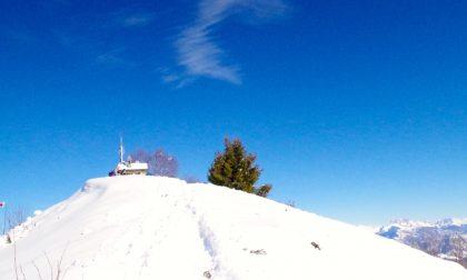 Sulla Cornagera e sul Poieto con la magia dell'ultima neve