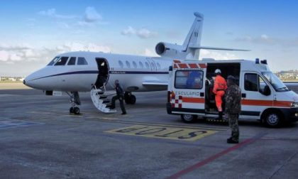 Dalla Puglia a Bergamo, Falcon 900 dell'Aeronautica per salvare 40enne