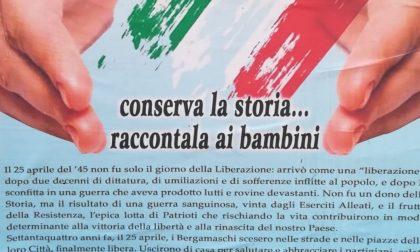 Campania, manifesto del 25 Aprile copiato da Bergamo (con errore)