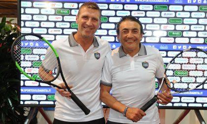 Tennis 2019, botti anche sul campo con Massimo Carrera e Chiappucci