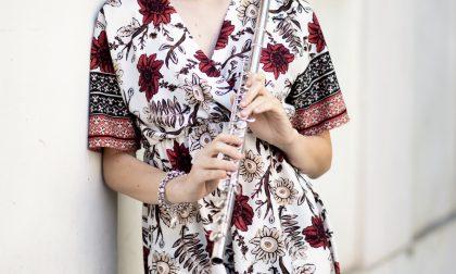 Bella come la melodia di un flauto Michela Podera, tra moda e musica