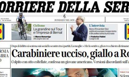 Le prime pagine dei giornali sabato 27 luglio 2019