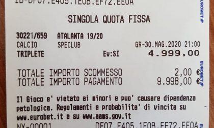 Il tifosissimo che ha puntato due euro sul triplete della Dea
