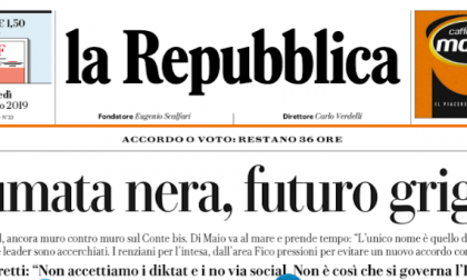 Le prime pagine dei giornali lunedì 26 agosto 2019