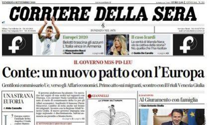Le prime pagine dei giornali venerdì 6 settembre 2019