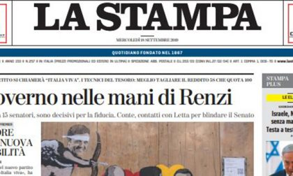 Le prime pagine dei giornali mercoledì 18 settembre 2019