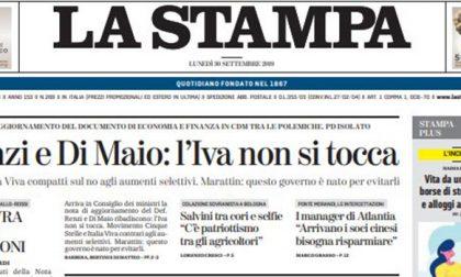 Le prime pagine dei giornali lunedì 30 settembre 2019