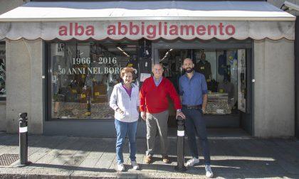 Gli Alba, che da oltre cinquant'anni vestono tutti in Borgo Palazzo
