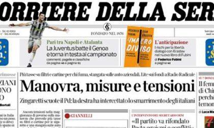 Le prime pagine dei giornali giovedì 31 ottobre 2019