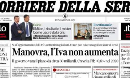 Le prime pagine dei giornali martedì 1 ottobre 2019