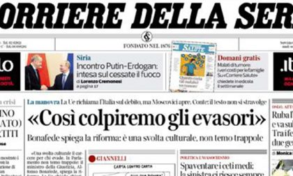 Le prime pagine dei giornali mercoledì 23 ottobre 2019