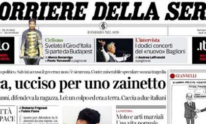 Le prime pagine dei giornali giovedì 25 ottobre 2019