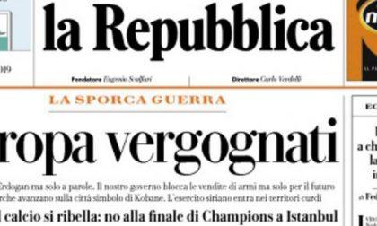 Le prime pagine dei giornali martedì 15 ottobre 2019