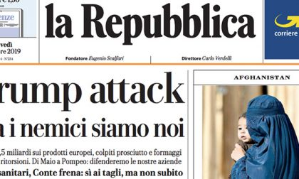 Le prime pagine dei giornali giovedì 3 ottobre 2019