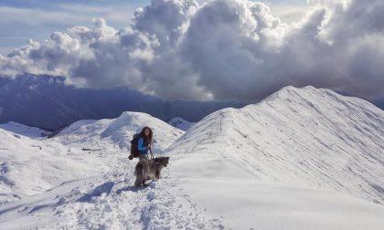 Giusto due fiocchi di neve sulla cima di Grem - Anita Pesenti
