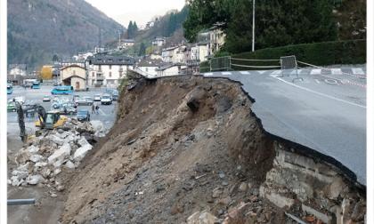 Crolli di strade come se piovesse: dopo la Liguria, Piazza Brembana