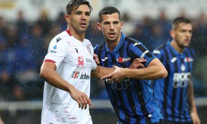 L'Atalanta in dieci battuta dal Cagliari (0-2)
