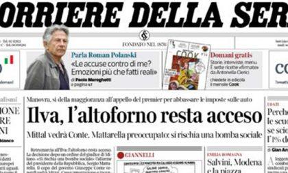 Le prime pagine dei giornali martedì 19 novembre 2019