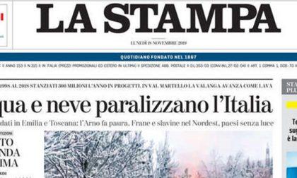 Le prime pagine dei giornali lunedì 18 novembre 2019