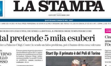 Le prime pagine dei giornali giovedì 7 novembre 2019