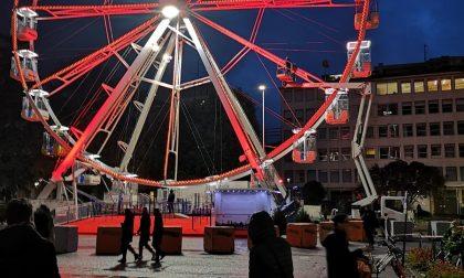 Anche quest'anno il Natale di Bergamo sarà illuminato dalla ruota panoramica