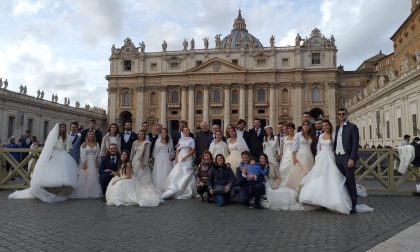 Gli sposi novelli di Mozzo dal Papa