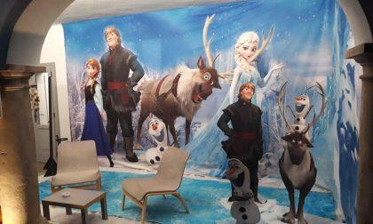 Elsa e Olaf si prendono Gandino Il set di Frozen 2 messo in piazza