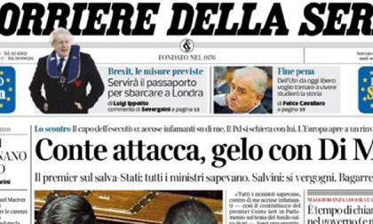 Le prime pagine dei giornali martedì 3 dicembre 2019