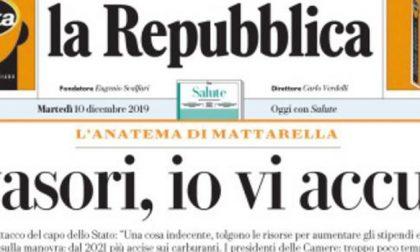 Le prime pagine dei giornali martedì 10 dicembre 2019