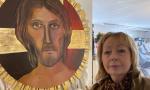 Luana Raffuzzi, che da 40 anni decora la chiesa della Dorotina di Mozzo