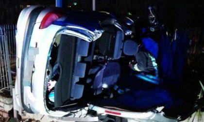 Auto ribaltata nel Bresciano: 20enne di Martinengo in coma