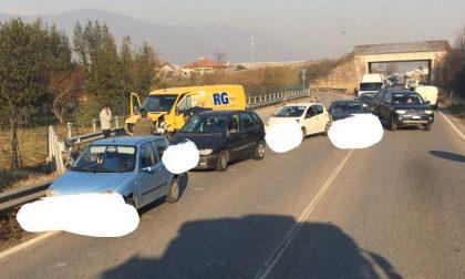 Incidente a Torre Boldone. Traffico in tilt sulla provinciale da e per la Valle Seriana