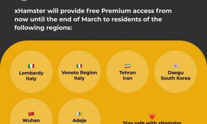 Porno gratis per chi è in quarantena. L'idea di xHamster per Wuhan, Lombardia e Veneto