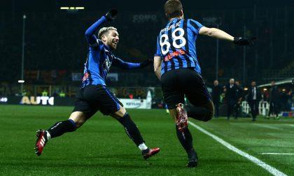 La Dea e gli ultrà non muoiono mai: 2-1 alla Roma in rimonta e fuga Champions