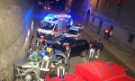 Incidente nella notte a Villa d'Almè. Coinvolte nove persone